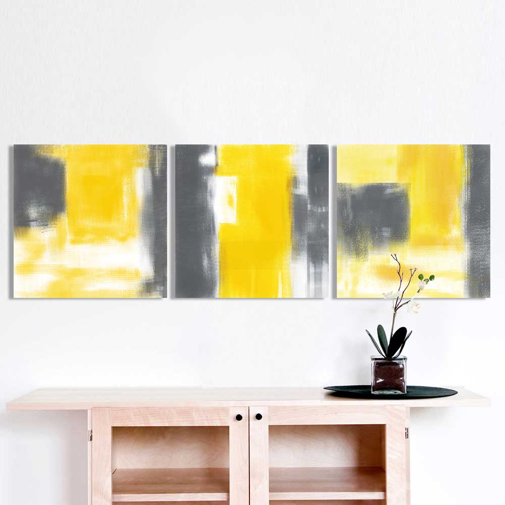 3 Pieces Print Nordic Abstract  Oil Painting