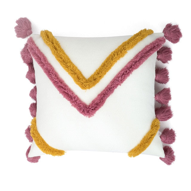 Cushion Cover  Boho Style Tassle