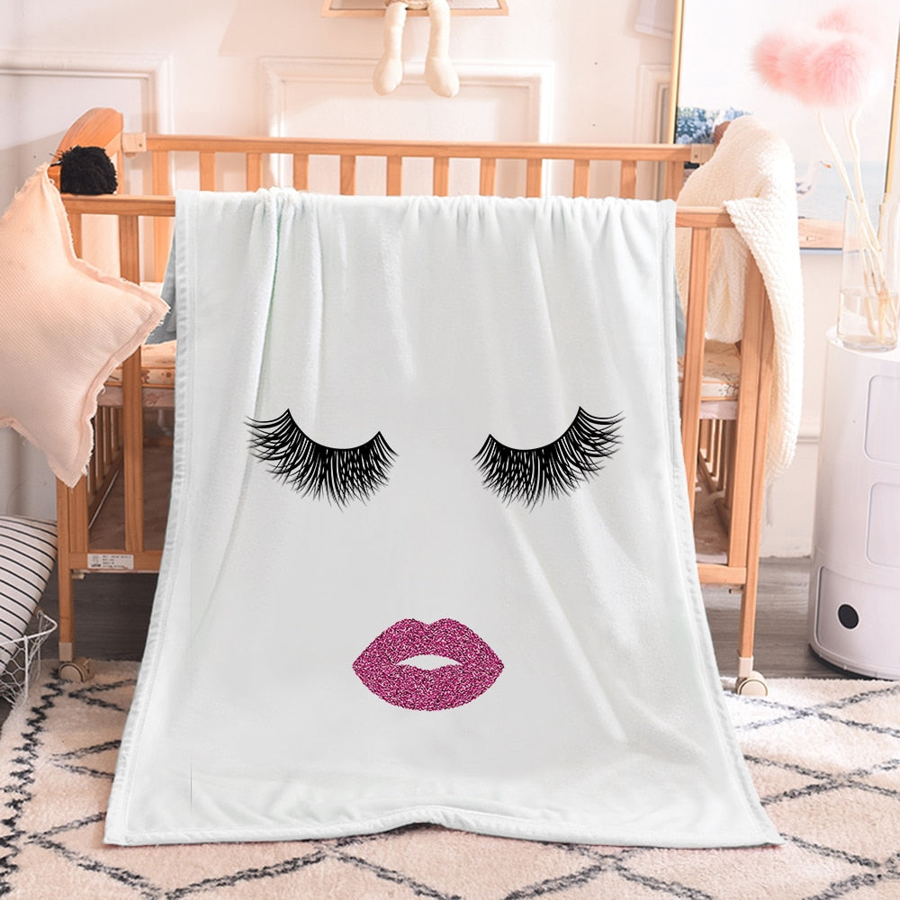Beautiful Eyes Sofa Comfort Throw Blanket