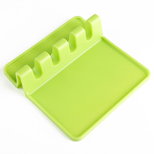 Kitchen Utensil Silicone Spoon Rack