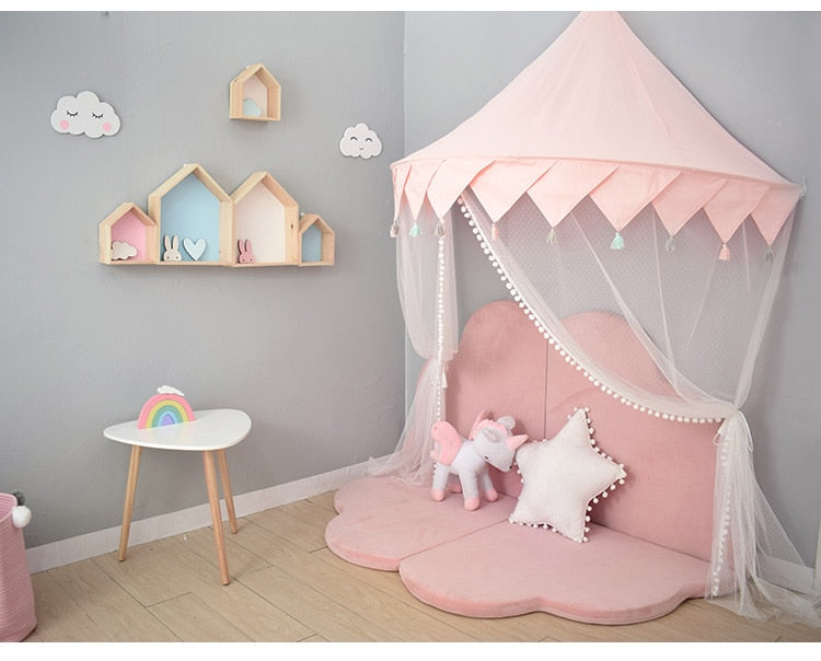Kids Play Princess Castle Play Canopy Tent Children