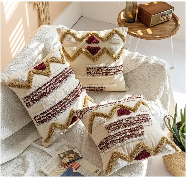Embroidery Boho Style Ethnic Colorful Pillow Cover