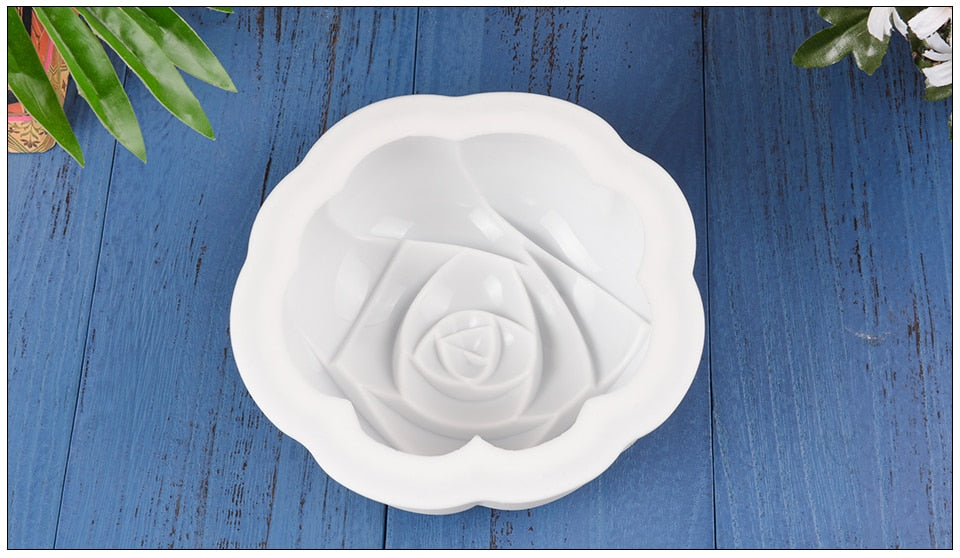 3D Rose Flower Mousse Cake Mold Silicone