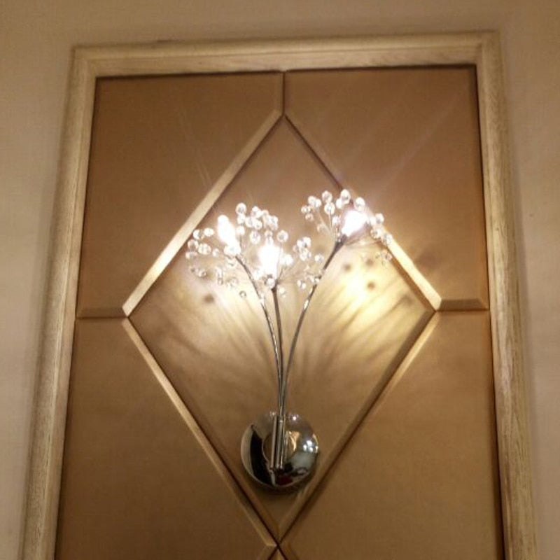 Modern American Luxury Crystal Wall Lamp