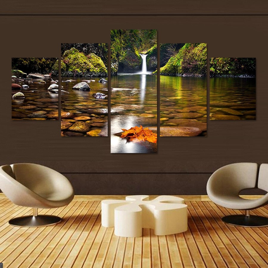 5 Pcs Landscape Canvas Art Modular Picture