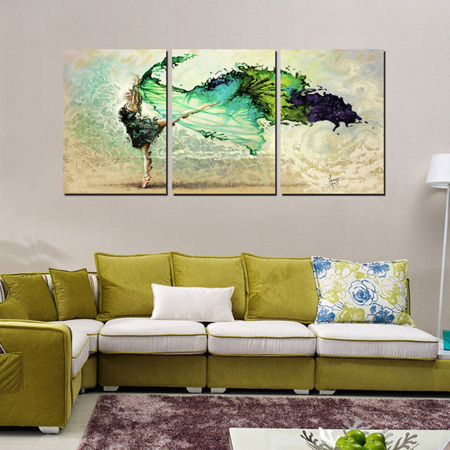 Canvas Painting City Street Wall Art No Frame