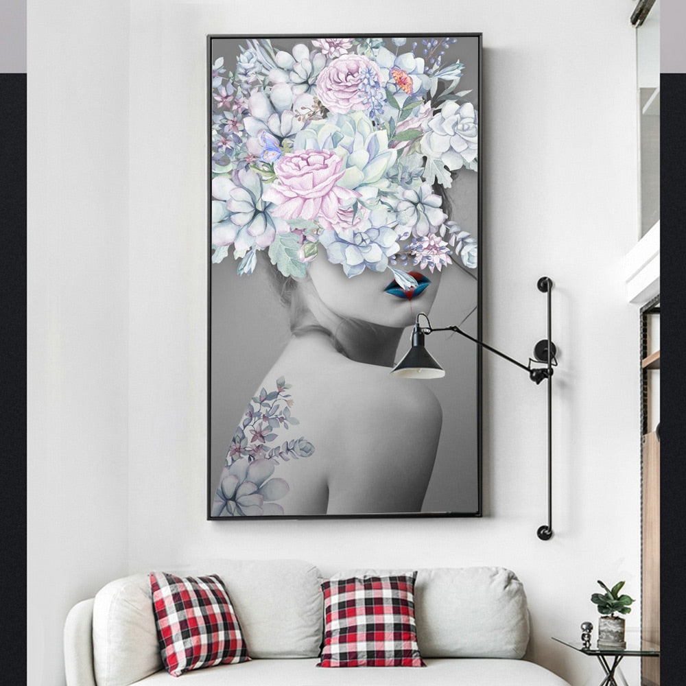 Flower Girl Oil Painting Awakening Canvas