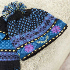 Blue Meadow Lined Alpaca Hat