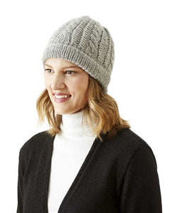 100% Alpaca Trenza Cable Hats