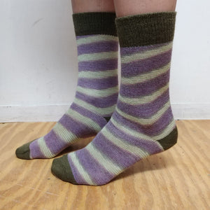 Candy Stripe Alpaca Socks