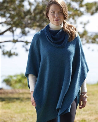 Cowl Neck Square Alpaca Cape
