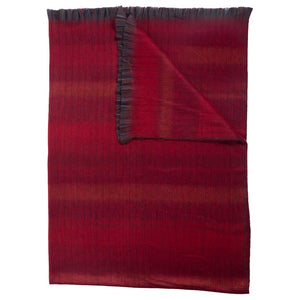 Pokoloko Fringe Blanket -Mood Red-