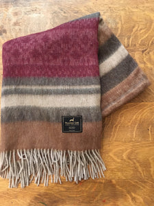 Cherokee Alpaca Throw (Dark Red/Grey)