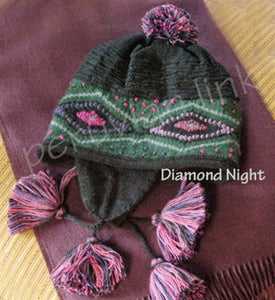Diamond Night Alpaca Chullo Hat