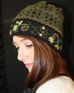 Fern Lined Alpaca Hat