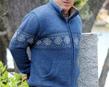 Men's Fleece Lined Alpaca Sweater