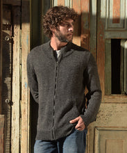 Men's Full Zip Alpaca Cardigan