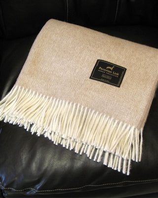 Herringbone Alpaca Throw