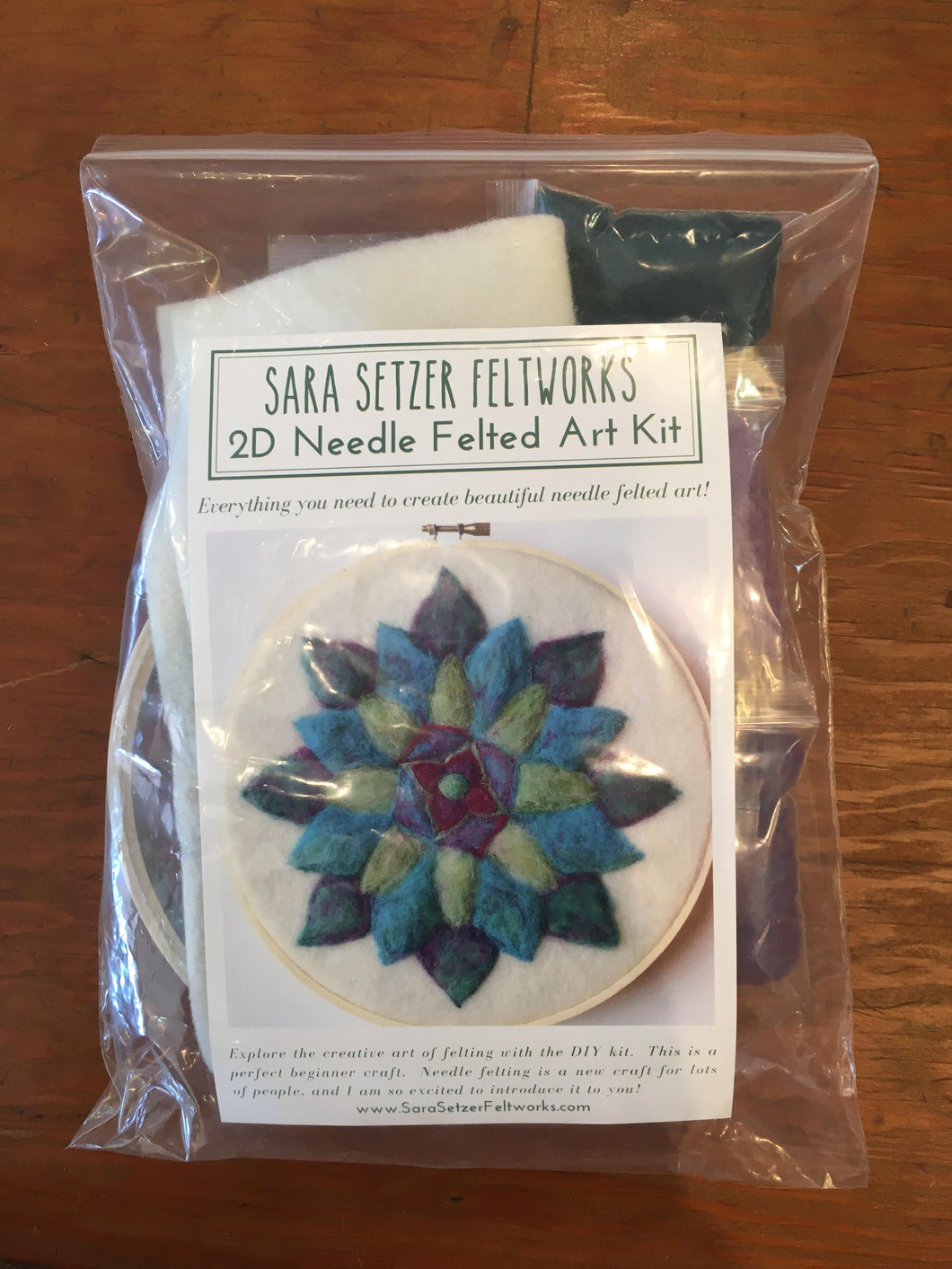 Sara Setzer Feltworks 2D Needle Felted Art Kit