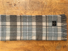 Plaid Alpaca Throw (Grey)