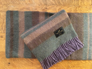 Cherokee Alpaca Throw (Purple/Green)