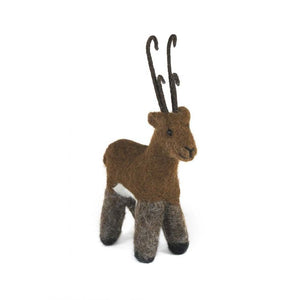 Reindeer: Wildlife Alpaca Fiber Ornament