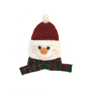 Snowman Face Alpaca Holiday Ornament
