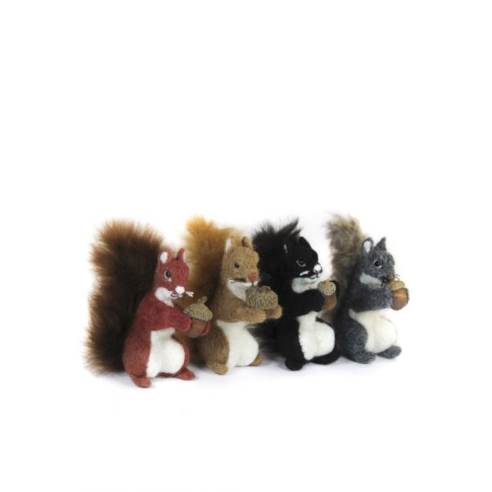 Squirrel Acorn: Wildlife Alpaca Fiber Ornament