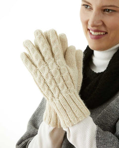 100% Alpaca Trenza Cable Gloves
