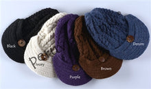 Trenza Cable Handknit Button Cap