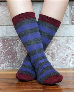 Tri Color Striped Socks