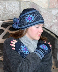 Twilight Fingerless Alpaca Gloves