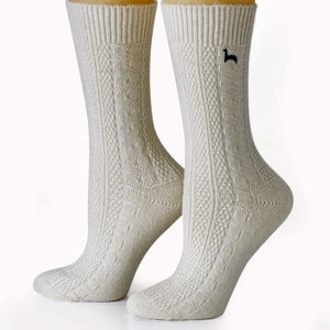 Cable Dress Alpaca Socks