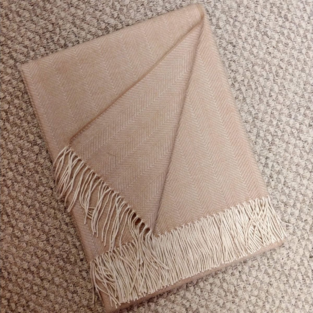 Herringbone 100% Baby Alpaca Throw
