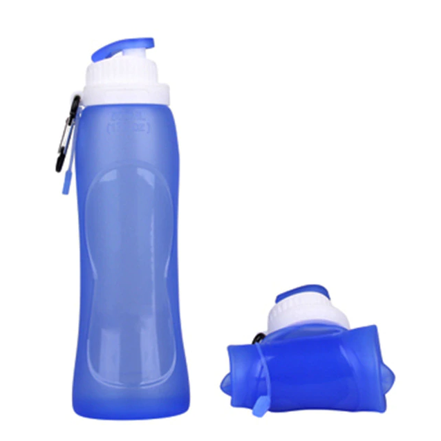 500ml BPA-Free Silicone Collapsible Water Bottle