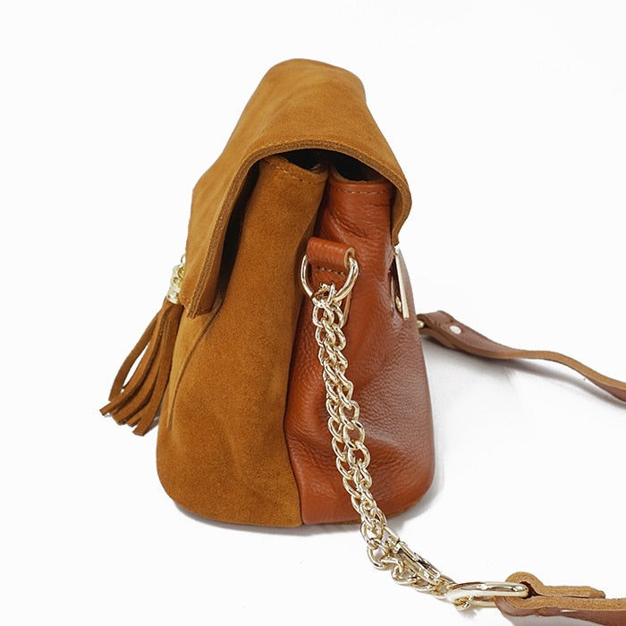 Leather Crossbody Bag - Soleil