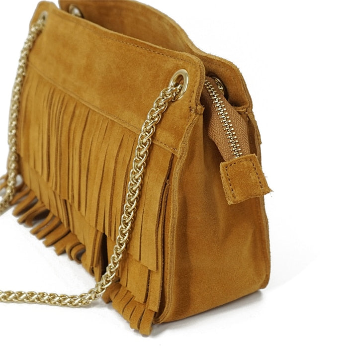 Leather Shoulder Bag - Demelza