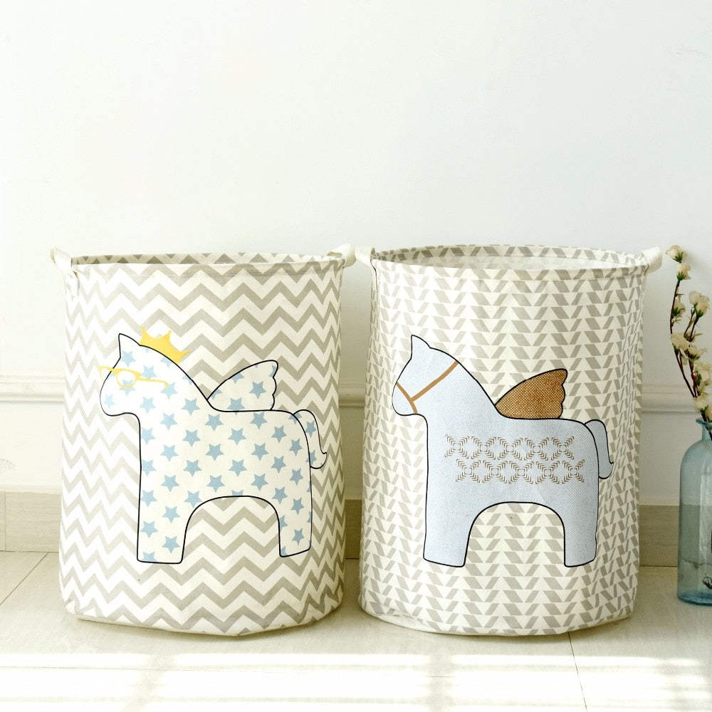 Child's Geometric Horse Hamper