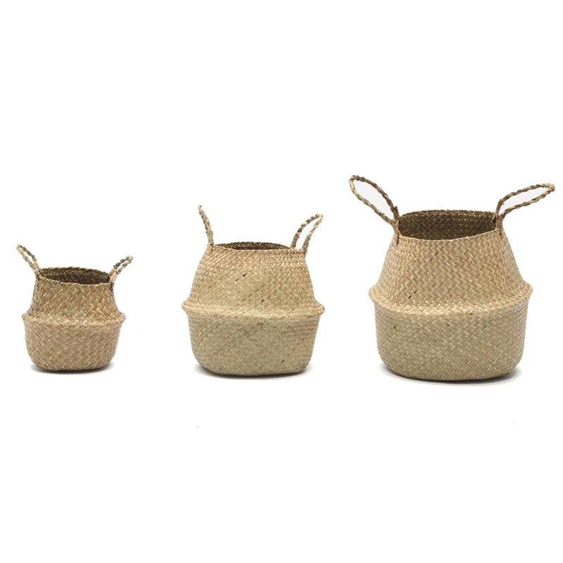 Handmade Straw Storage Baskets
