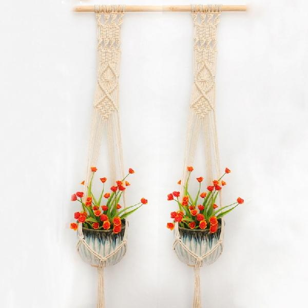 Far Set Double Macrame Plant Hanger