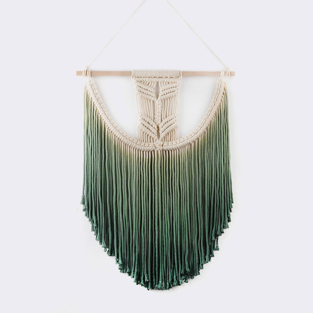 Handmade Dip-Dye Macrame Wall Decor (5 Colors)