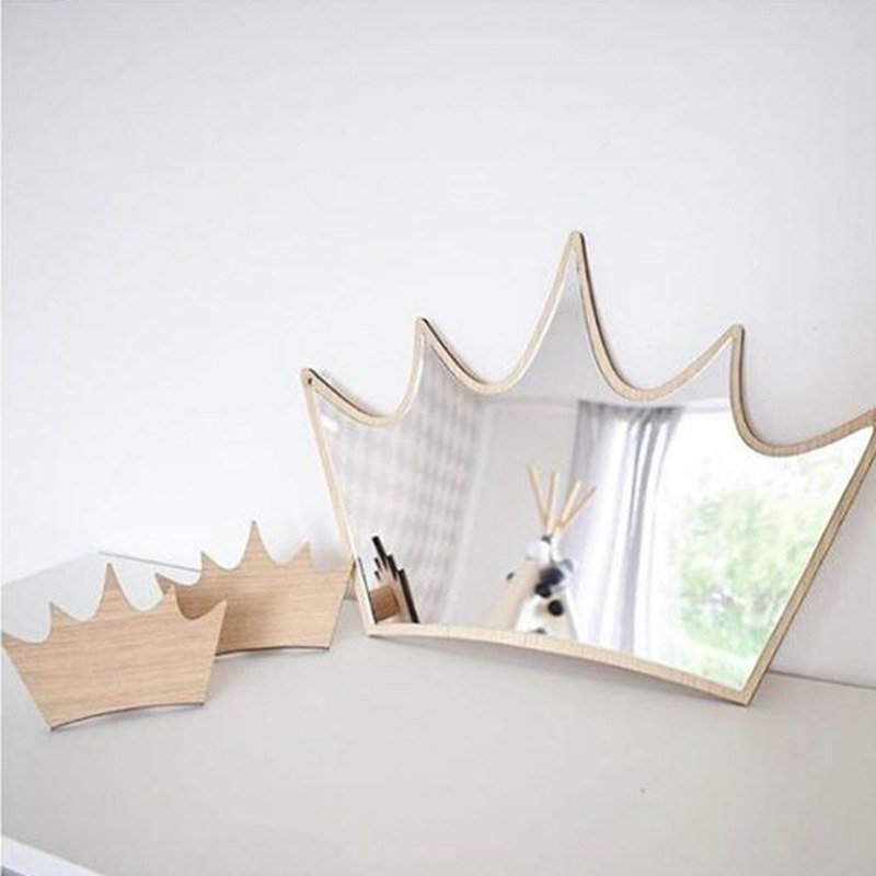 Boho Kids Crown Bedroom Mirror