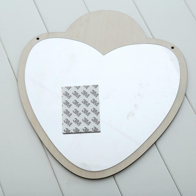 Boho Kids Heart Bedroom Mirror