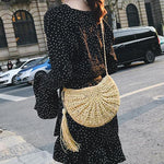 Straw Crossbody Bag - Clover