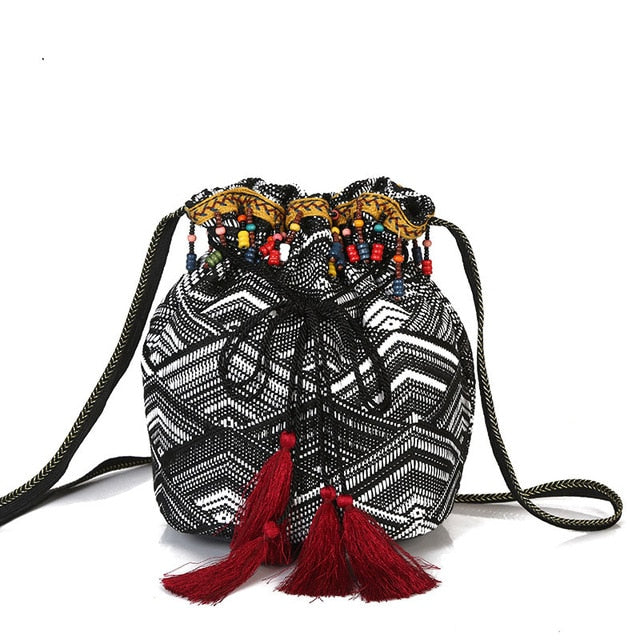 Cotton Crossbody Bag - Rey