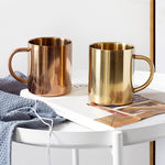 Stylish Stainless Steel Mugs (450ml/15oz)