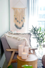 Boho Macrame Wall Decor With Dyed Tips