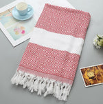 Geometric Turkish Tassel Towels (7 Colors)