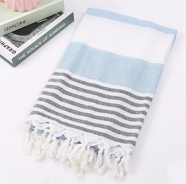 Wide Stripe Turkish Tassel Towels (7 Colors)