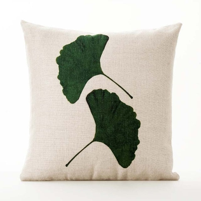 Ginkgo Boho Throw Pillow Cover